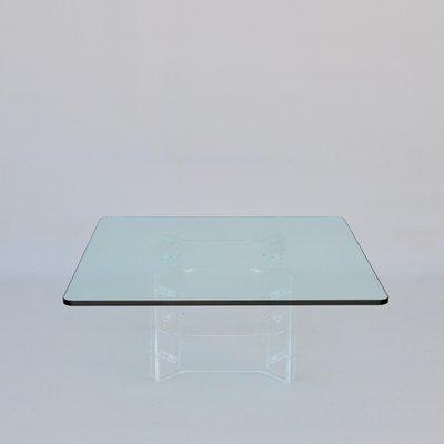 Glas Und Plexiglas Couchtisch 1970er Bei Pamono Kaufen