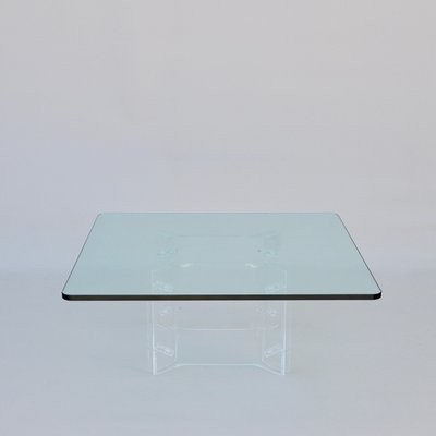 Lucite Coffee Table.Glass And Lucite Coffee Table 1970s