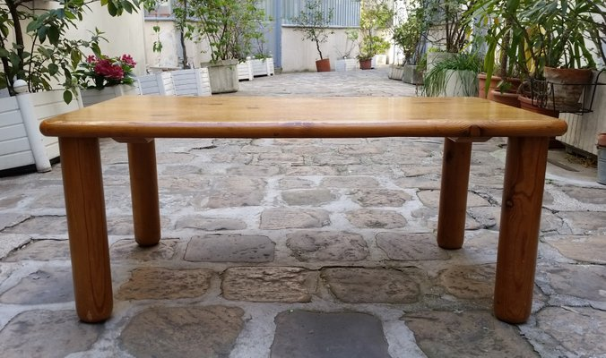 Brilliant Mid Century Pine Les Arcs Coffee Table By Charlotte Perriand Ocoug Best Dining Table And Chair Ideas Images Ocougorg