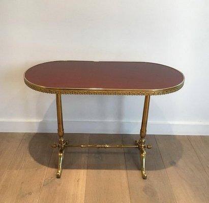 Petite Table Basse De Style Néoclassique En Bois Et Laiton France