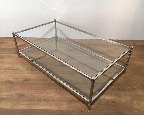 Grande Table Basse Chromee De Roche Bobois 1970s