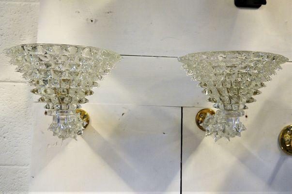 Lampade da parete vintage di ercole barovier set di in vendita