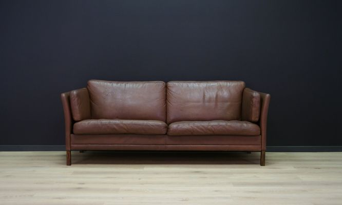 Vintage Danish Sofa In Leather 1