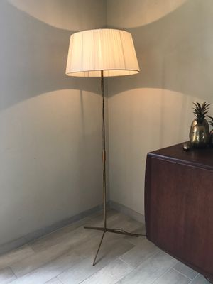 Vintage Brass Tripod Floor Lamp 1950s For Sale At Pamono