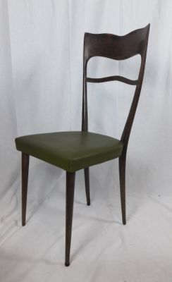 Superbe Dining Chairs With High Backs, 1950s, Set Of 6
