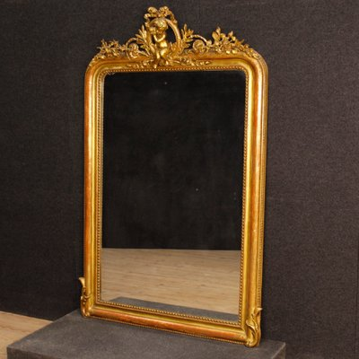 antique gold mirror french French Antique Gold Mirror, 1880s for sale at Pamono antique gold mirror french