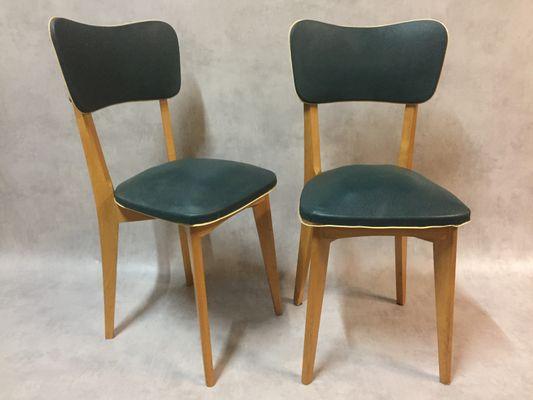 Sedie Vintage Colorate : Sedie vintage in similpelle verde set di 6 in vendita su pamono