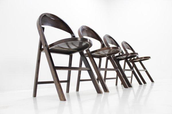 Sedie Pieghevoli Di Design.Sedie Pieghevoli B751 Bauhaus Di Thonet Anni 30 Set Di 4