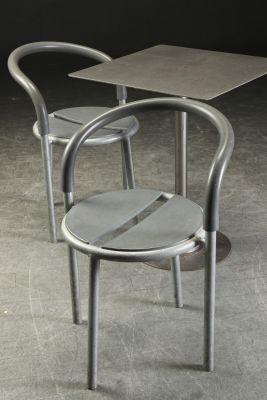 Vintage Metal Table 2 Chairs By Niels Gammelgaard Lars Mathiesen
