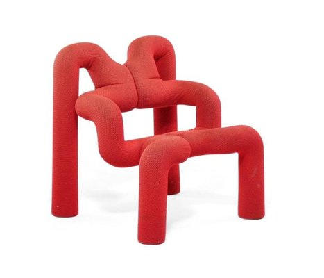 Red Extreme Chair By Terje Ekstrøm For Stokke, 1970s 1