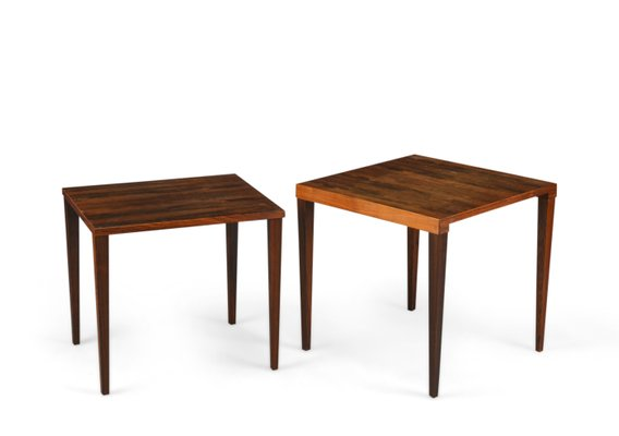 Vintage Square Coffee Tables From Heltborg Set Of 2 1