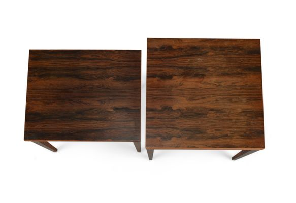 Vintage Square Coffee Tables From Heltborg Set Of 2
