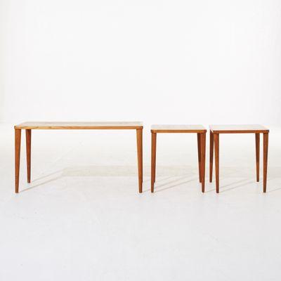 Vintage Teak Side Tables, Set Of 3 1