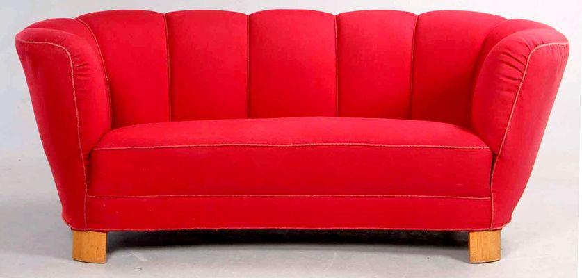Danish Art Deco Cherry Sofa 1930s 1