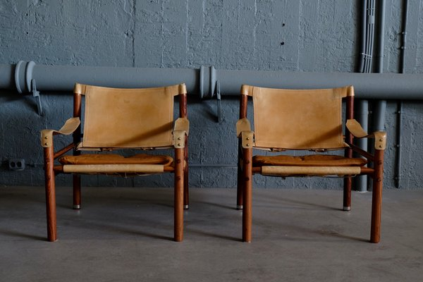 Sirocco Safari Chairs By Arne Norell, 1960s, Set Of 2 1
