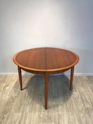 Ausziehbarer Runder Tisch Mit 6 Stühlen Von Lübke, 1960er 1