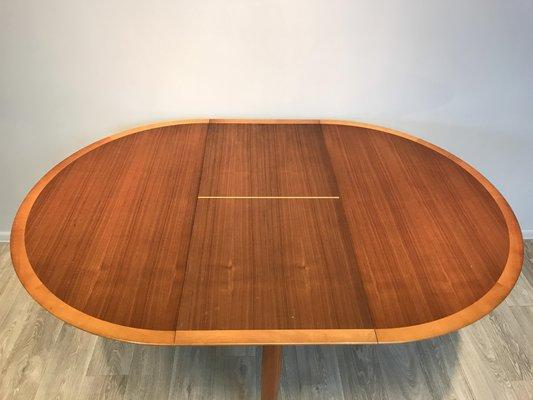 Ausziehbarer Runder Tisch Mit 6 Stühlen Von Lübke, 1960er 11