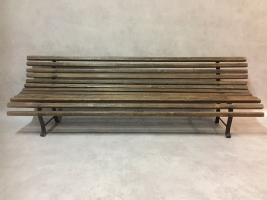 Gartenbank holz metall  Antike Kinder Holz & Metall Gartenbank bei Pamono kaufen