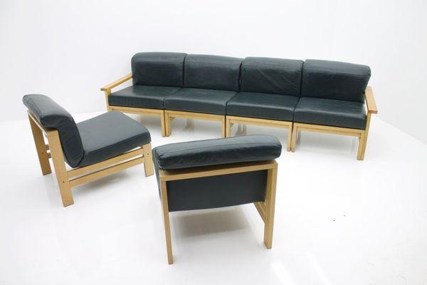 Vintage Modular Leather Sofa 1