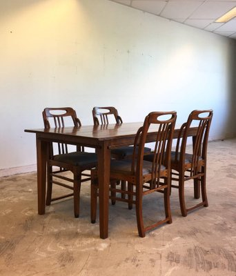 Art Deco Style Dining Room Set By Frits Schuitema 1980s For Sale At Pamono