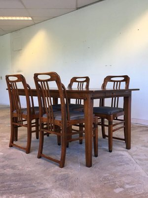 Art Deco Style Dining Room Set By Frits Schuitema 1980s 2