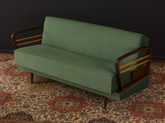 Green Sofabed With Two Tone Frame 1950s 1