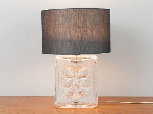 Lampade In Vetro Anni 70 : Base da lampada in vetro con fiore anni in vendita su pamono