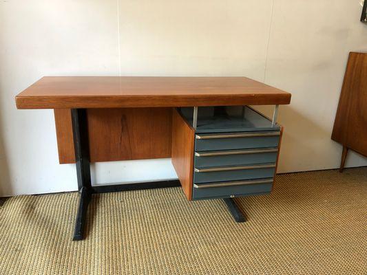 Desk by daciano da costa for metalurgica da longra s for sale