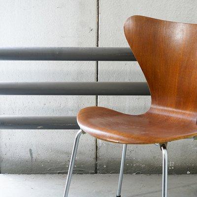 Vintage 3107 Series 7 Stuhl Von Arne Jacobsen Für Fritz Hansen Bei