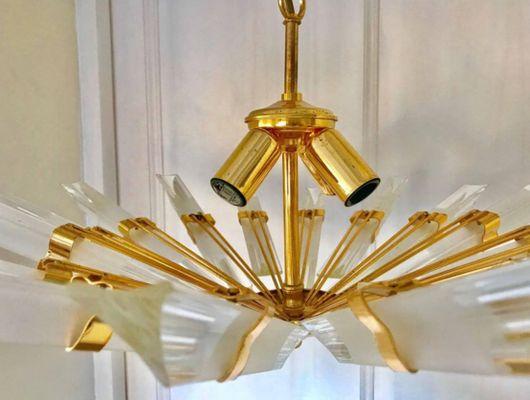 Kronleuchter Modern Gold ~ Clear glass globen kronleuchter modern brass globe leuchte