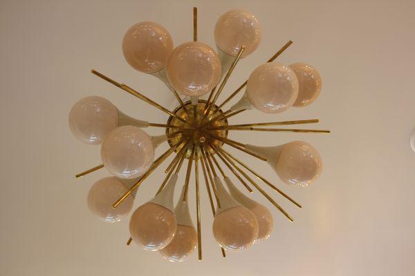 Kronleuchter Aus Murano Glas ~ Mid century sputnik kronleuchter aus murano glas & messing bei