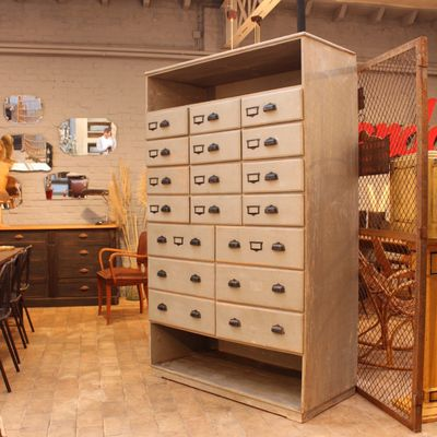 Vintage Wooden Storage Cabinet 1