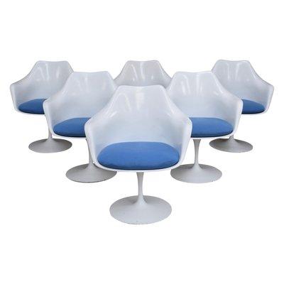 vintage american tulip chairs by eero saarinen for knoll set of 6