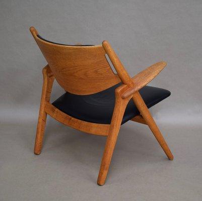 Model CH28 Sawbuck Chair by Hans J. Wegner for Carl Hansen & Søn, 1950s