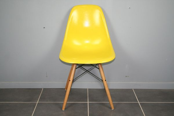 Yellow DSW Chair By Charles U0026 Ray Eames For Herman Miller 1