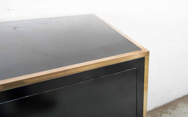 Credenza La Maison : Regency bronze and black lacquer credenza by alain delon for maison