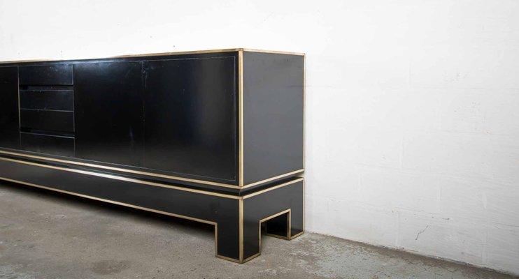 Credenza La Maison : Regency bronze and black lacquer credenza by alain delon for maison