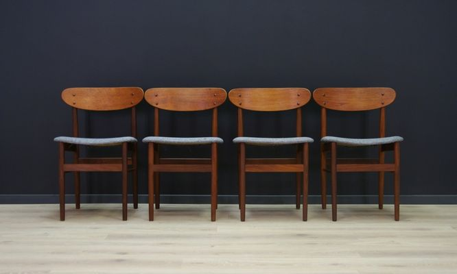 Vintage Danish Dining Chairs Set Of 4 1
