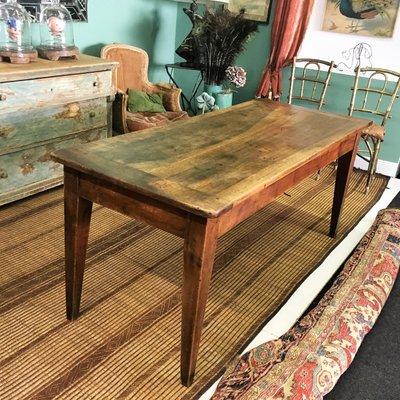 Tavolo da pranzo antico in noce, Francia in vendita su Pamono
