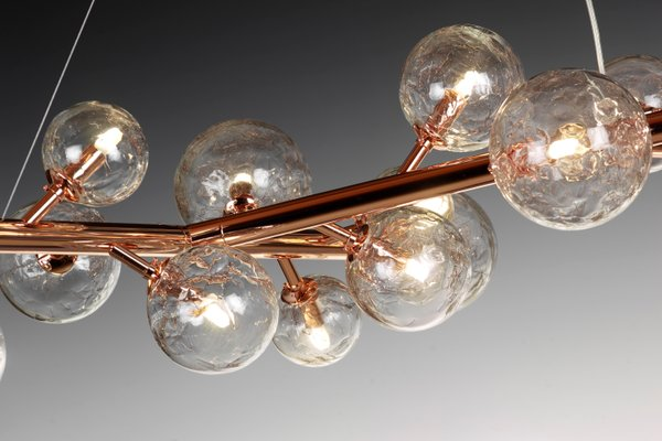 Copper Mimosa Chandelier With 27 Lights