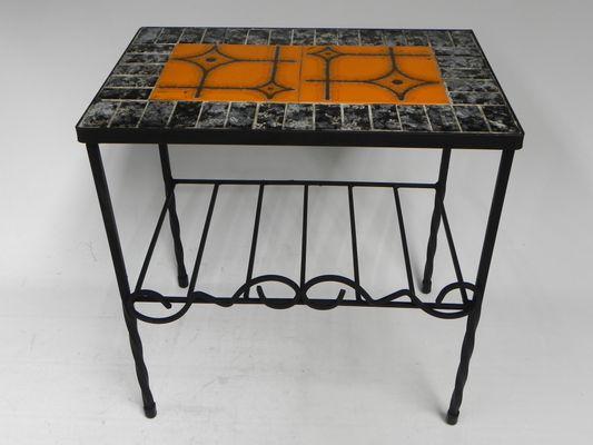 Tavolino vintage con piastrelle in vendita su pamono
