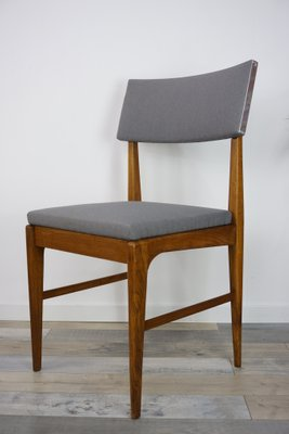 Teak Metal Dining Chairs 1950s Set Of 4 1