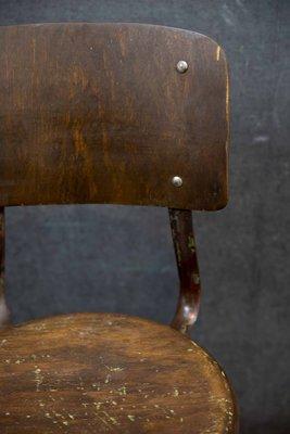 Tabouret D Usine Modele 4 Par Robert Wagner Pour Rowac 1940s
