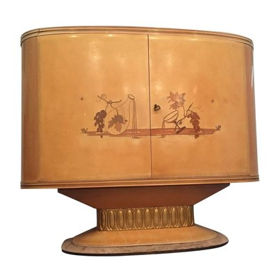 Italian Art Deco Bar Cabinet From Galleria Mobili D Arte Cantu