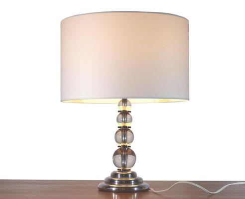 Lampada da tavolo sfera vetro coppia di lampade da tavolo