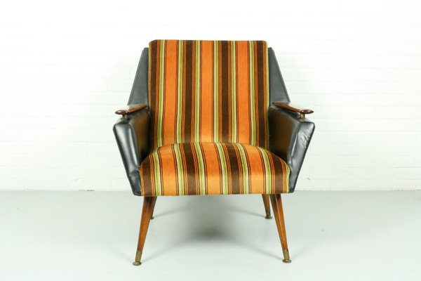 Vintage Armchair With Brass Legs 1960s For Sale At Pamono