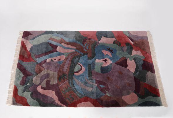Tapis Multicolore Vintage 1980s En Vente Sur Pamono