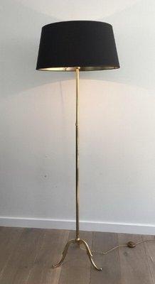 2d55cc4e991 Brass Floor Lamp with Black Shade