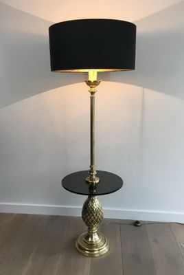 Pineapple Glass Floor Lamp | Teal