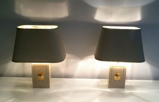 2 con mesa Lámparas bañadas de de oroJuego decoraciones tortugas en de qSUpjLzMVG